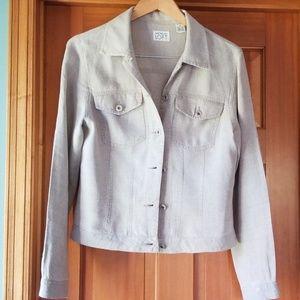 Ann Taylor LOFT linen jean jacket